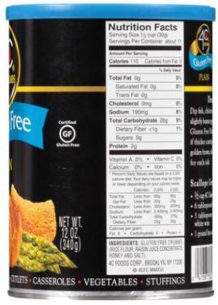 4c crumbs ingredients